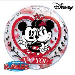 6111265cf1 Szerelmes, Mickey és Minnie egér, héliumos buborék lufi, 56 cm