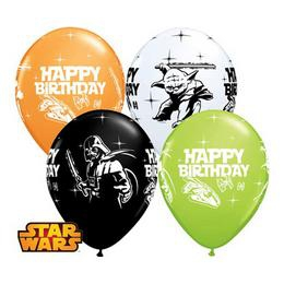 Happy birthday (Star Wars), 28 cm-es (latex) lufi (25 db)
